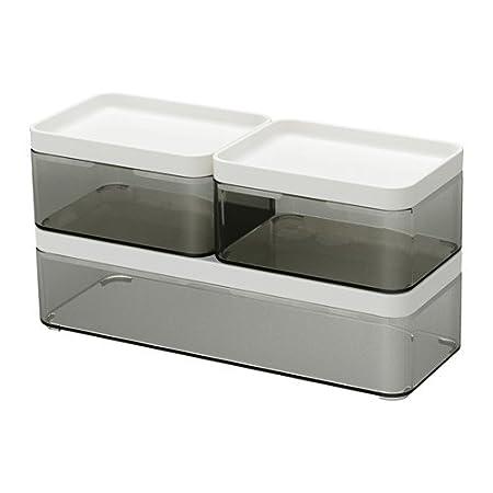 Ikea Brogrund Boxes Bathroom Storage Set Of 3 Amazon Co Uk