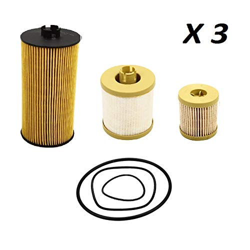 Price comparison product image yjracing FD4616 FL2016 Oil & Fuel Filter Fit for 03-07 Ford F Series 6.0L Powerstroke Diesel(Set of 3)
