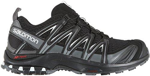 Salomon Men's XA PRO 3D Wide Trail Running Shoe, black, 12 W US (Best Hiking Footwear Review)