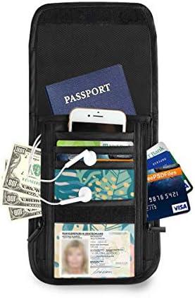 エキゾチック 熱帯植物 パスポートホルダー セキュリティケース パスポートケース スキミング防止 首下げ トラベルポーチ ネックホルダー 貴重品入れ カードバッグ スマホ 多機能収納ポケット 防水 軽量 海外旅行 出張 ビジネス