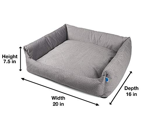 Messy Mutts Divine Bolster Dog Bed with EVERFRESH Probiotic Technology for Natural, Non-Toxic Odor Control