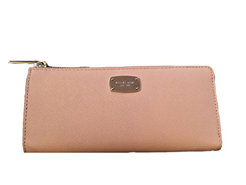 Michael Kors Jet Set Travel Large Three Quarter Zip Around Leather Wallet (Ballet) by Michael Kors
