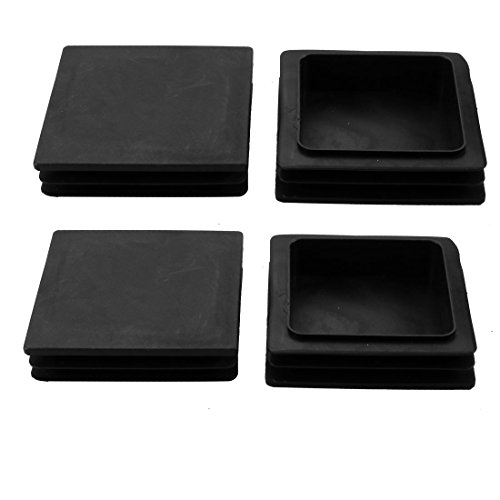 uxcell 4pcs 100x100mm Black Plastic Square Cabinet Leg Insert Cover Protector by uxcell