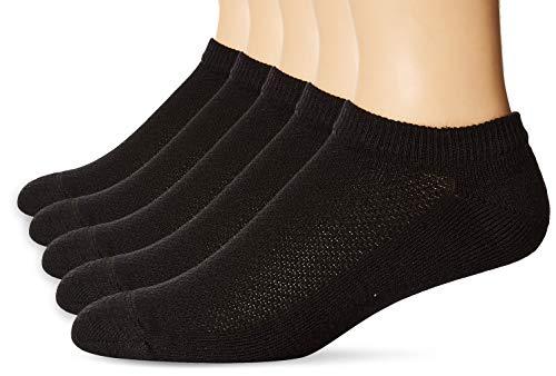 Hanes Men's 5-Pack FreshIQ X-Temp No-Show Socks, Black, Size: 10-13/Shoe Size:6-12