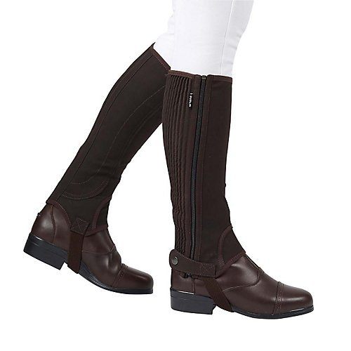 Dublin Adult Easy Care Half Chaps Medium Tall Brow (Chap Half Ribbed Suede)