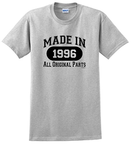 21st Birthday Gifts For Brother Gift Made 1996 All Original Parts T Shirt XL Ash Mom Says Its Cool