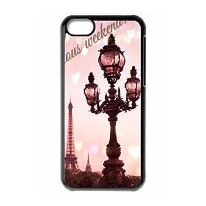 DIY Let's Move to Paris Phone Case, DIY Case Cover for iphone 5c with Let's Move to Paris (Pattern-4)