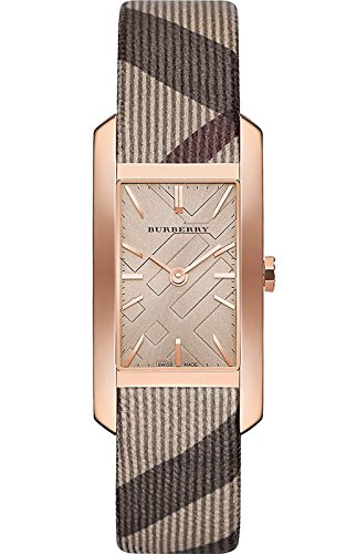 BURBERRY 9408 Square Case Rose Gold Tone Women's Watch