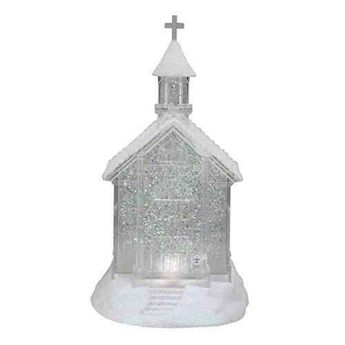 """Midwest Gloves 10.75"""" LED Lighted Swirling Glitter Church Christmas Snow Globe Glitterdome from Midwest"""
