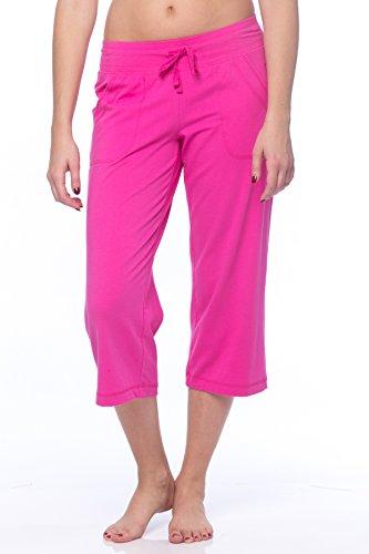 (Danskin Now Women's Regular and Plus size Capri Pink S)