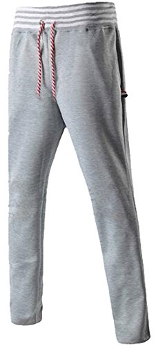 Letbe Lovely Cool Mens Outdoor Running Contton Pants Haren Sweatpants Lightrey(US)X-Large (Morph Suit Sizing)