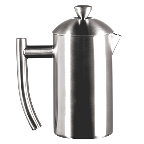 - Frieling USA Double Wall Stainless Steel French Press Coffee Maker with Patented Dual Screen, Brushed, 8-Ounce
