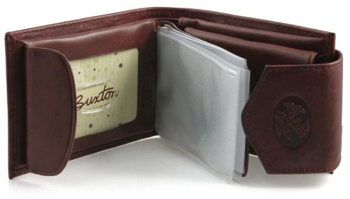 Brown Mahogany Ladies Billfold Leather - Buxton Wallets Ladies