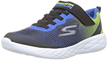 Skechers Boys' Go Run 600-Farrox Trainers, Black (Black Blue Lime Bblm), 10.5 UK (28 EU)