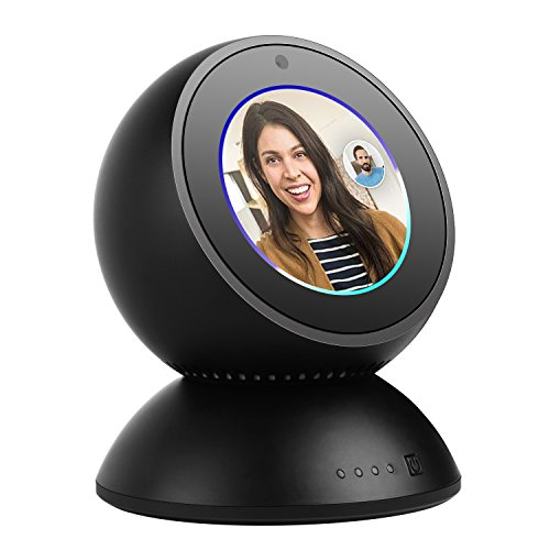 Battery Charger Stand - DAILYCOMB Echo Spot Movable Stand, 8000mAh Desktop Charger Battery for Echo Spot (Black)