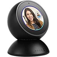 DAILYCOMB Echo Spot Movable Stand, 8000mAh Desktop Charger Battery for Echo Spot (Black)