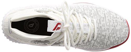Adidas Mens Dame 4, Bianco / Grigio / Scarlatto Bianco / Grigio / Scarlatto