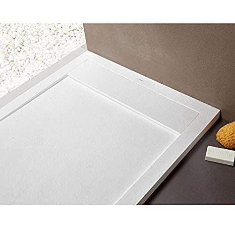 Receveur de douche 70 x 120 cm extra plat NEW YORK surface ardois/ée blanc