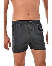 Tutku İç Giyim Pamuklu Penye Düğmeli Erkek Boxer 3 Lü Paket