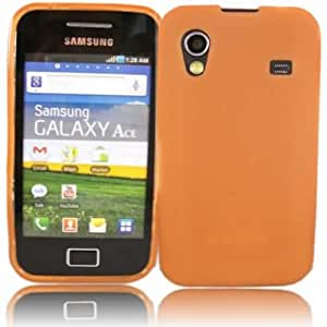 Gel Case Cover Shell For Samsung Galaxy Ace S5830 / Orange Design