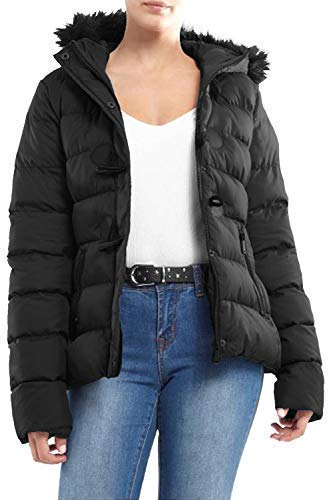 21086ec3ef58e Brave Soul Womens Ladies Designer Faux Fur Hooded Short Jacket ...