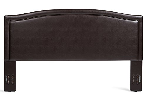 Mantua ABB66HBTBR Annapolis Upholstered Headboard, King/California King, Brown ()