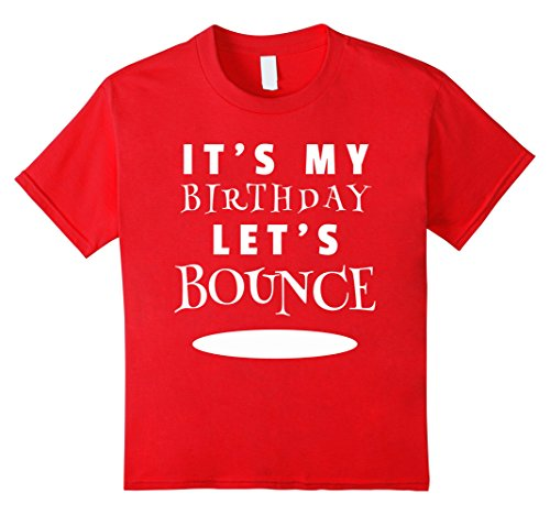 Price comparison product image Kids Trampoline Birthday Party Shirt 8 Red