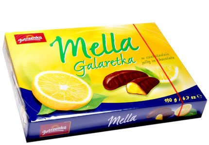 Jutrzenka MELLA Cocolate Coated Lemon Jelly, 6.7oz