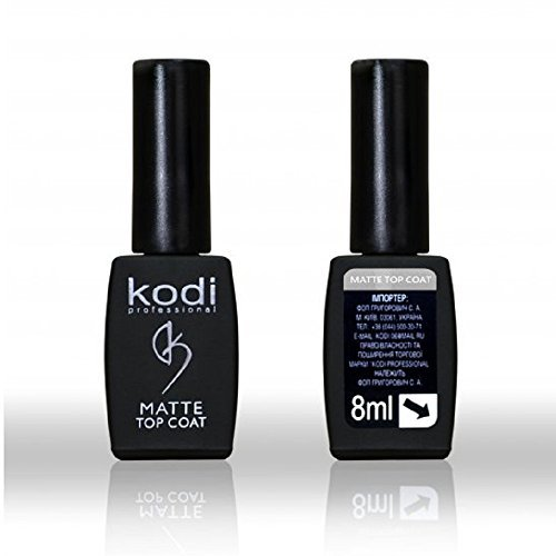 Kodi Professional Rubber Matte Top Coat Soak Off Gel Polish Led UV 8ml 0.27 oz by Kodi