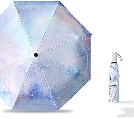 LYCV Sombrilla de protección Solar pequeña sombrilla Femenina Anti-UV sombrilla sombrilla Bolsillo Unisex@Segundo: Amazon.es: Hogar