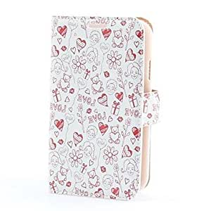 YULIN Love Icons Style PU Leather Case with Card Slot and Stand for Samsung Galaxy Grand Duos i9082