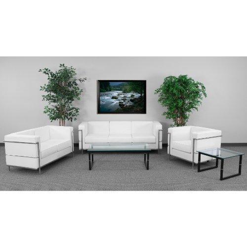 Flash Furniture HERCULES Regal Series Reception Set in Melrose White by Flash Furniture