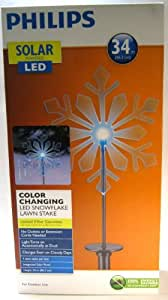 Philips Solar LED Color Changing Snowflake Stake