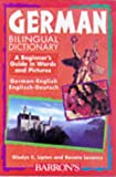 German Bilingual Dictionary, Gladys C. Lipton and Renata Losoncy, 0764103407