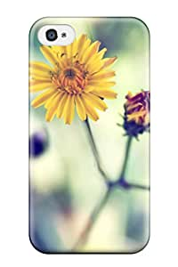 Best Iphone 4/4s Hybrid Tpu Case Cover Silicon Bumper Yellow Spring Daisy 2441728K33635010