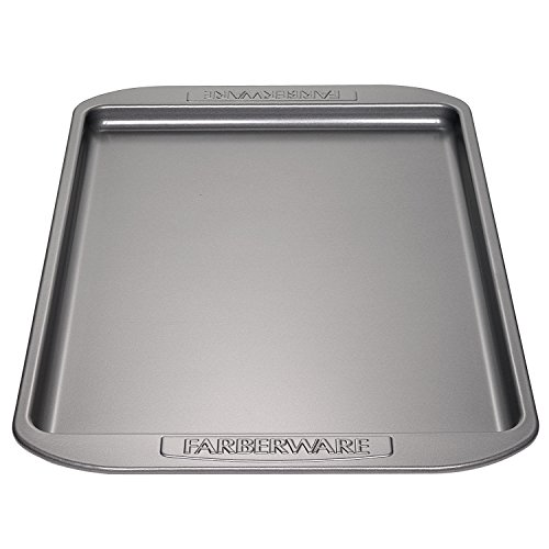 Shortbread English Pan (Farberware Nonstick Bakeware 10-Inch x 15-Inch Cookie Pan, Gray)