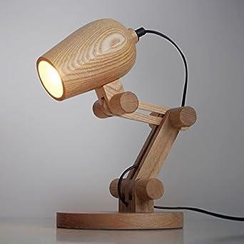 U-Enjoy Araña Lámparas De Diseño Escritorio De Madera De Mesa Sala ...