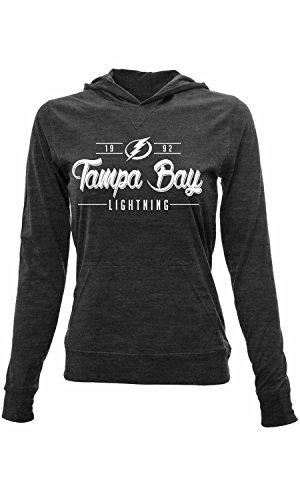 [NHL Tampa Bay Lightning Women's Recovery Pin Dot Hoodie, Medium, Charcoal] (Lightning Full Zip Hoodie)