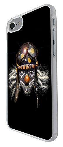 003144 - Creepy pilot killer clown Design iphone 6 6S 4.7'' Coque Fashion Trend Case Coque Protection Cover plastique et métal - Clear
