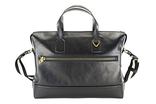 bally-thelar-mens-leather-business-bag-briefcase-attache-solid-black-calf