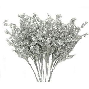 Kampoojoo - Silver Baby's Breath Gypsophila Silk Wedding Flowers Centerpieces Fillers Gyp (Set of 12) 67