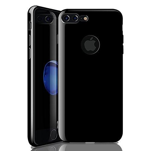 Cheap Cases iPhone 8 Plus Case iPhone 7 Plus Case,Zisure Jet Black Ultra Thin..