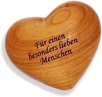 Unbekannt Gro/ßes Holzherz mit Beschriftung als Handschmeichler oder Briefbeschwerer Herz