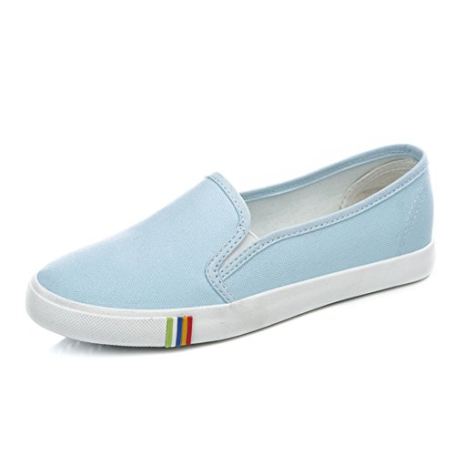Zapatos de lona mujer/Zapatos de Fu de fondo plano de color sólido/Zapatos Casual estudiante D