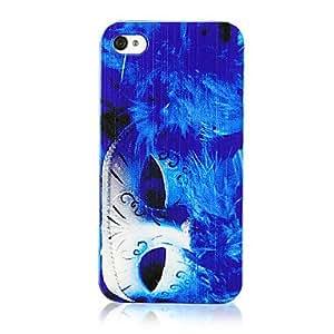conseguir Azul original de la pluma de la manera y el patrón de la máscara transparente Marco de nuevo caso para el iPhone 4/4S