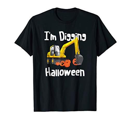 Im Digging Halloween Shirt Tractor Boys Construction Digger