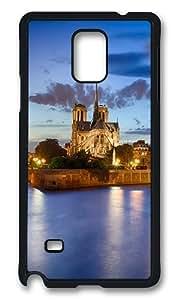 Samsung Galaxy Note 4 Case, Notre Dame Scenery Rugged Case Cover Protector for Samsung Galaxy Note 4 N9100 Polycarbonate Plastics Hard Case Black