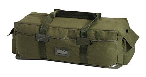 ISRAELI Paratrooper Army Heavyweight Canvas Medic Shoulder Bag in Olive /& Black
