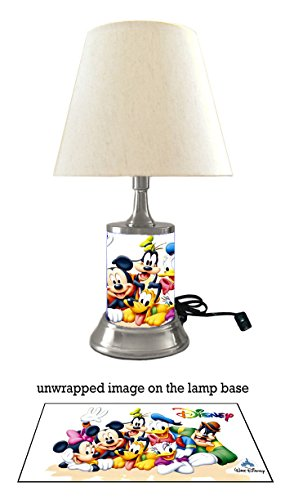 Disney Characters Lamp with Shade, Mickey Mouse, Minnie Mouse, Goofy and More ()