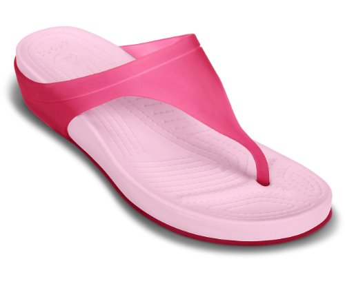 Rose Flip Hot CarlieII femme W Platform Crocs Pink Bubblegum Sandales 0EwYdx